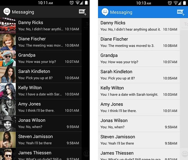 meilleures applications sms android sliding sms E
