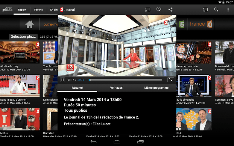 les meilleures applications de streaming tv sous android androidpit. Black Bedroom Furniture Sets. Home Design Ideas