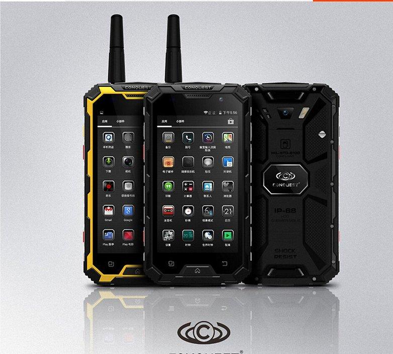 meilleurs smartphones android incassables conquest s8 pro image 00