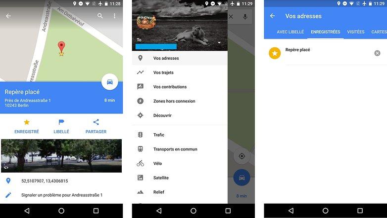 meilleurs trucs astuces google maps android enregistrer endroit lieu adresse images 00
