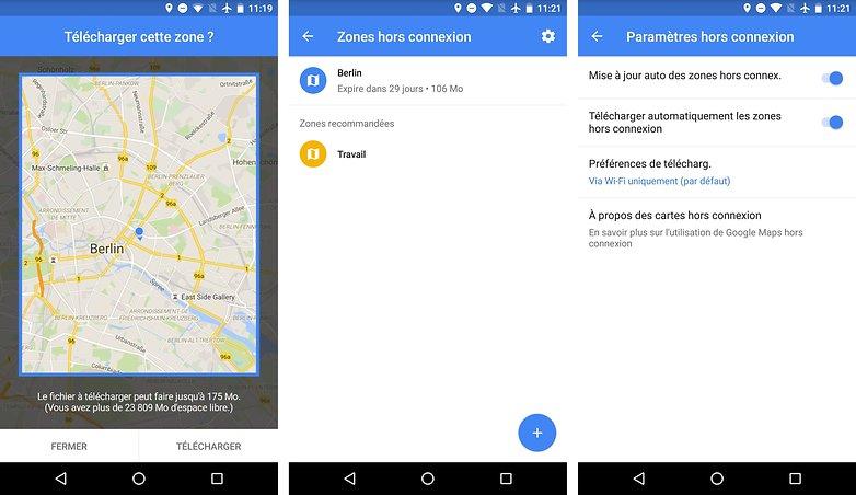 meilleurs trucs astuces google maps android enregistrer memoriser cartes hors ligne mode deconnecte images 00