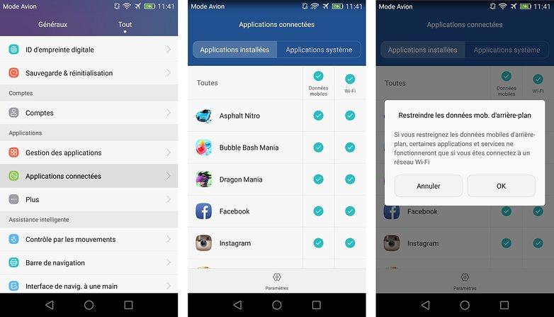 meilleurs trucs astuces honor 5x activer couper gerer acces internet applications processus android images 01