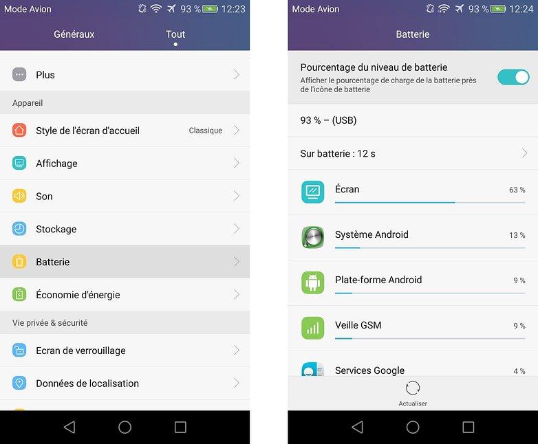meilleurs trucs astuces honor 5x afficher pourcentage batterie android images 01