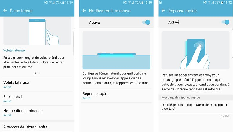 meilleurs trucs astuces samsung galaxy s7 edge notification lumineuse bords couleurs contacts images 00