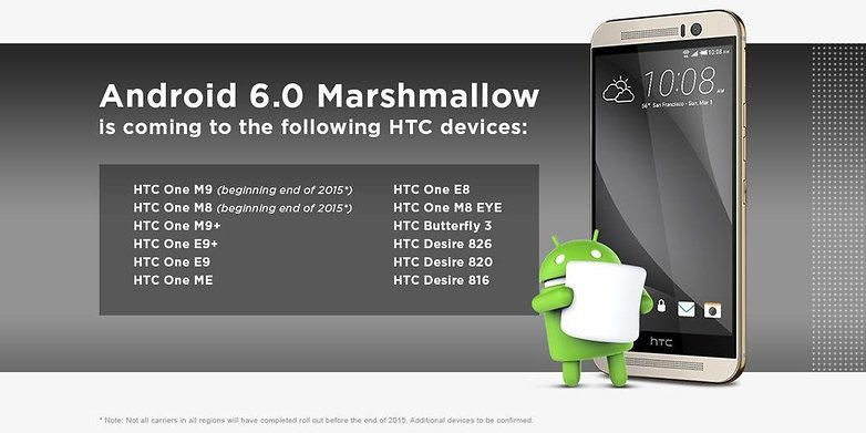 mise a jour android marshmallow smartphones tablettes htc one m desire butterfly image 00