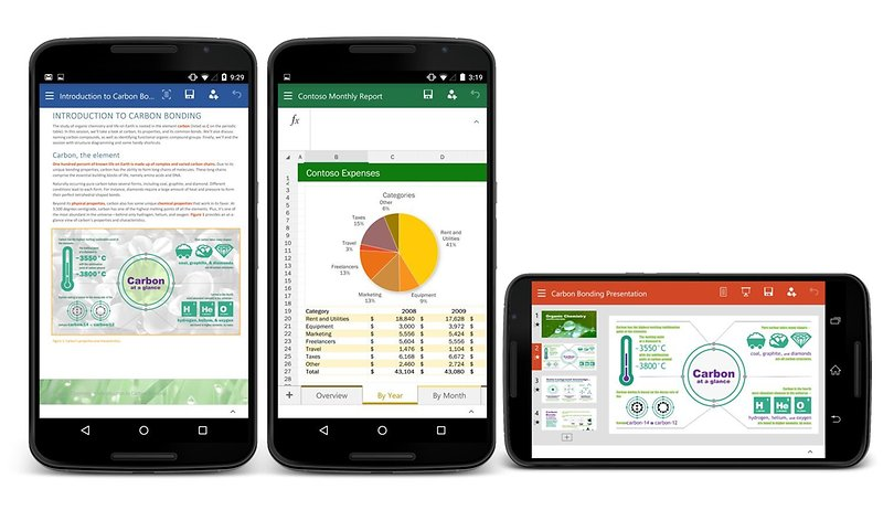 Microsoft Word, Excel and Powerpoint now available on Android phones