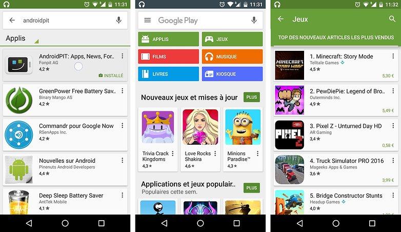 telechargez nouveau google play store nouveau visuel etoiles notation applications jeux android images 01