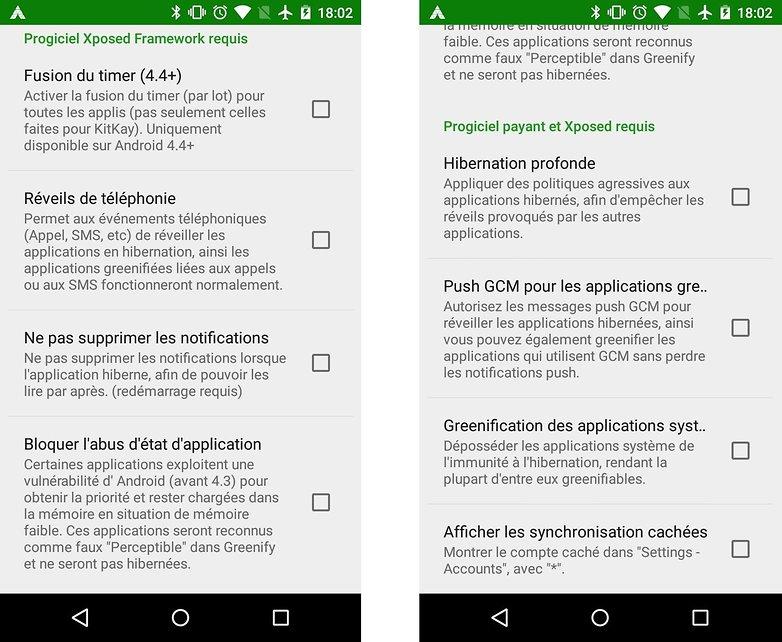 test comparatif doze vs greenify fonctions telechargement images 04