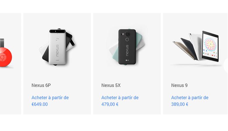 test comparatif google nexus 5 2015 vs google nexus 6 2015 price prix france europe confirme google store image 00