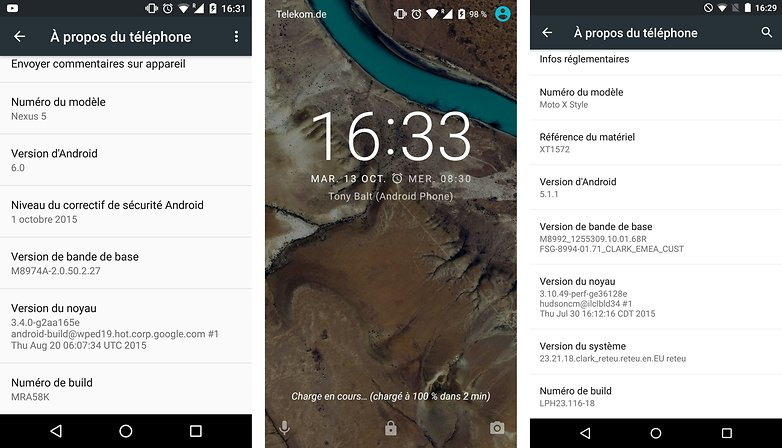 test comparatif google nexus 6 p vs motorola moto x style interface logicielle image 01