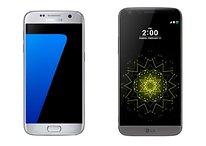 Galaxy S7 edge vs LG G5 : l'étanchéité ou la batterie amovible ?