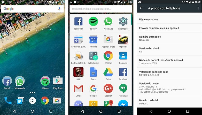 test complet google nexus 5x interface logicielle image 00