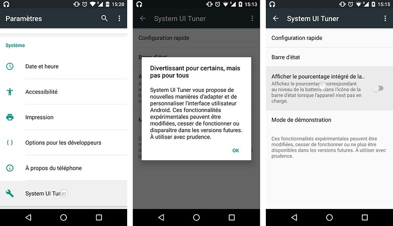 trucs astuces android 6 0 marshmallow afficher chiffres pourcentage batterie restante image 02