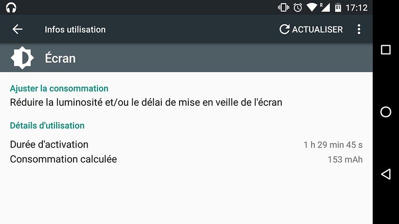 trucs astuces android 6 0 marshmallow voir trouver consommation batterie mah processus applications image 00