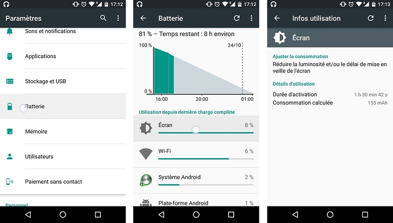 trucs astuces android 6 0 marshmallow voir trouver consommation batterie mah processus applications image 01