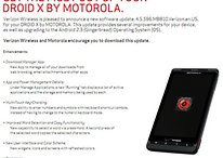 Verizon Rolling Out Gingerbread for Droid X This Friday