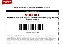 Staples Coupon Slices $100 Off Any Tablet, Grab an Asus Transformer for Just $299
