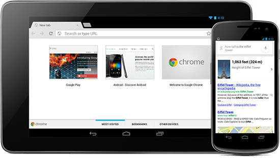 chrome android mise à jour