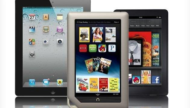 Battle of the Displays: Kindle Fire vs. Nook Tablet vs. iPad 2