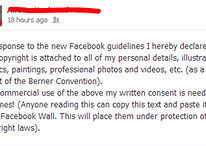 Pro Tip: Don't Bother Posting a Copyright Notice on Your Facebook Wall