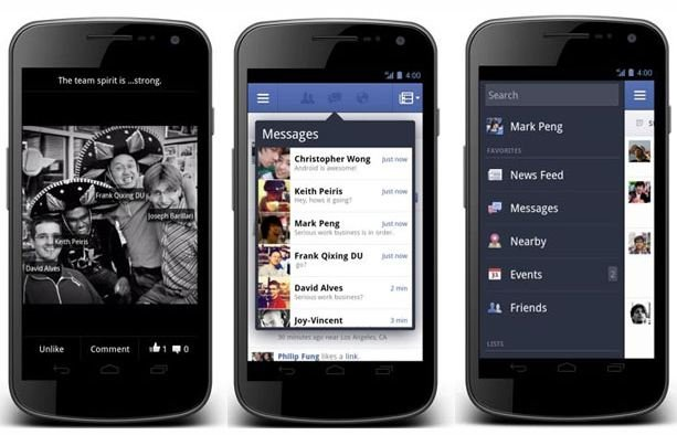 Nouvelle application Facebook
