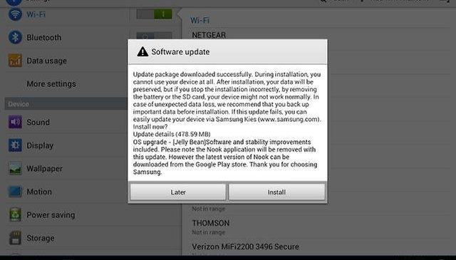 Samsung Galaxy Note 10.1 Receiving Update to Android 4.1.2