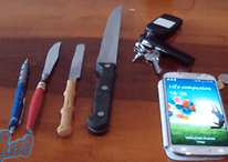 Scratch test du Samsung Galaxy S4 : Gorilla Glass contre couteau
