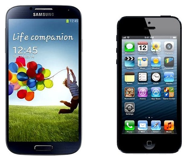 galaxy siv vs iphone 5