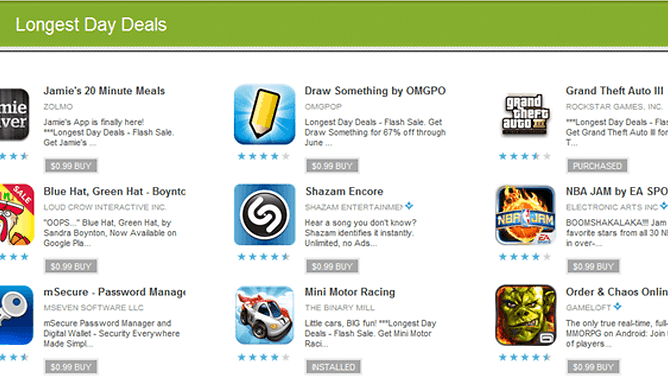 Tons of Great Apps Are Just $.99 Today at Google Play