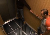 LG Pulls Off Terrifying Elevator Stunt to Show Off Their New Displays