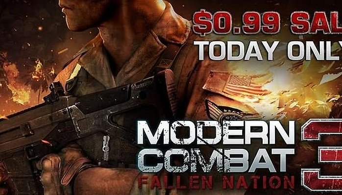 Modern Combat 3 On Sale for $0.99 Today Only
