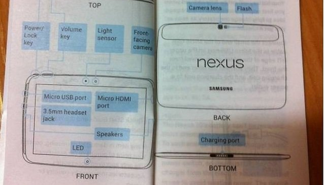 Nexus 10: Manual do Usuário vazou na internet