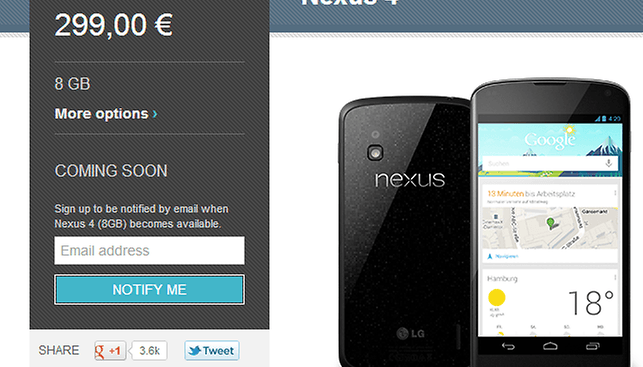 Nexus 4, 10 Sell Out in Minutes, Prompting a Sea of Angry Tweets
