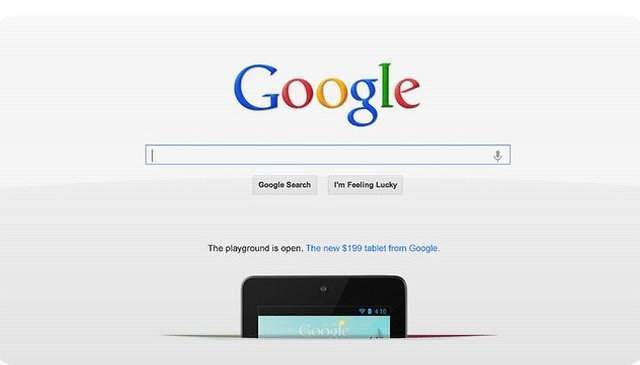 Home Court Advantage: Nexus 7 Now Advertised on Google.com