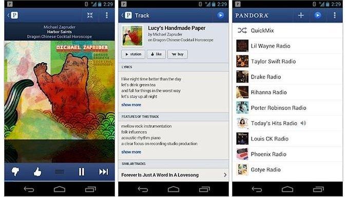 Pandora's Android App No Longer Looks Like Crap