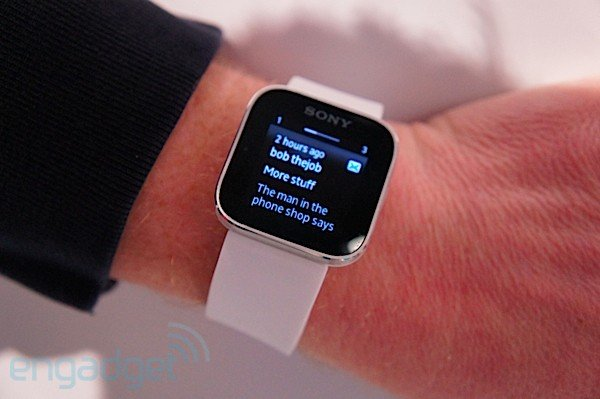 sony smartwatch hands on video