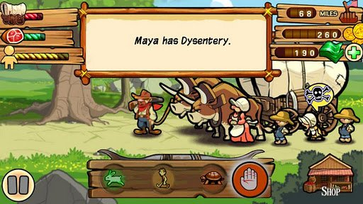 oregon trail for android thanks but i d rather die of dysentery