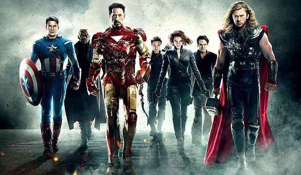 The Avengers Movie 1 Team Pose