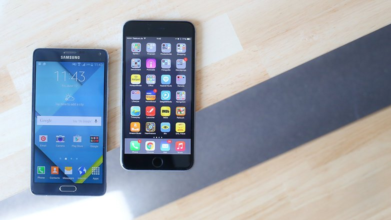 androidpit galaxy note 4 vs iphone 6 plus 06