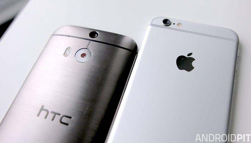 HTC One (M8) vs iPhone 6 comparison: the full-metal clash