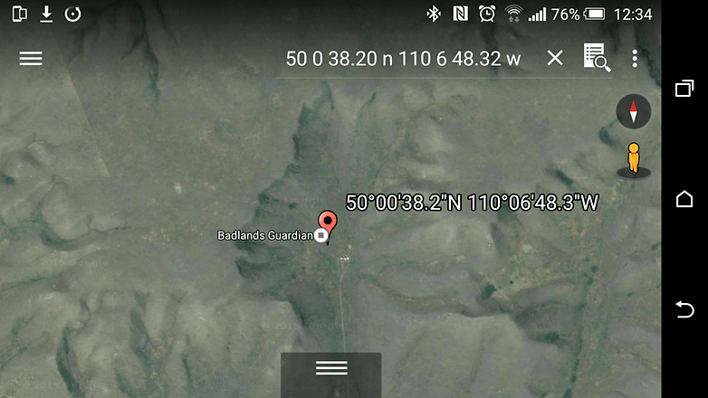 androidpit google earth badlands guardian