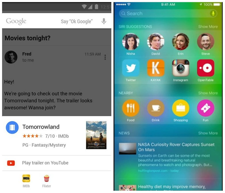 Google Now vs Siri comparison: which personal assistant is