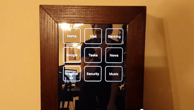 Watch this DIY Android 'smart mirror' in action