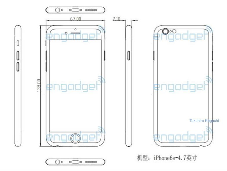 androidpit iphone 6s design leak