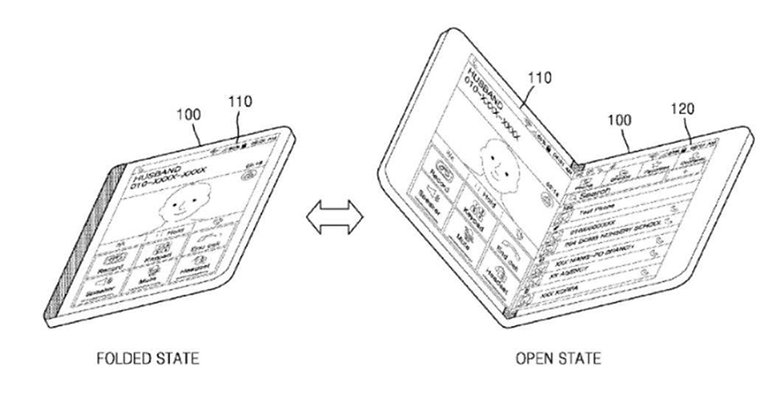 Faltbares Smartphone und Tablet