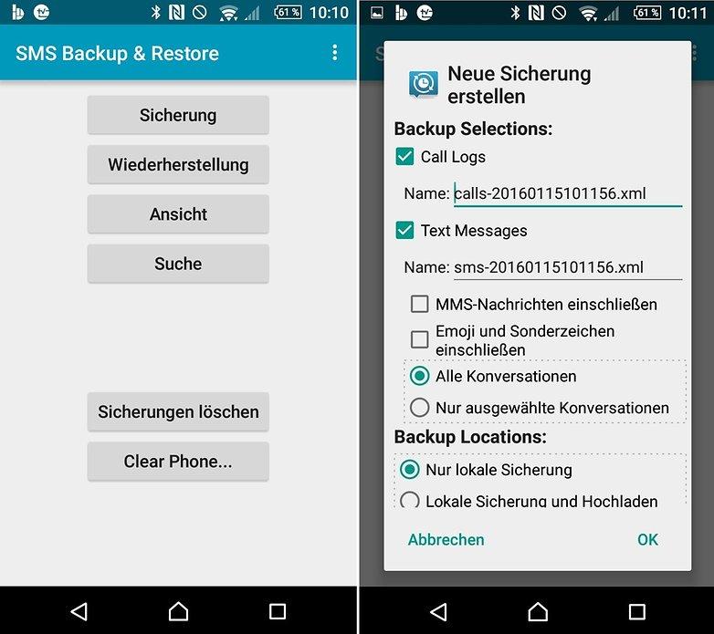 SMS Backup 1