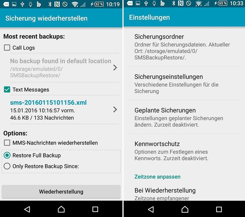 SMS Backup Restore App