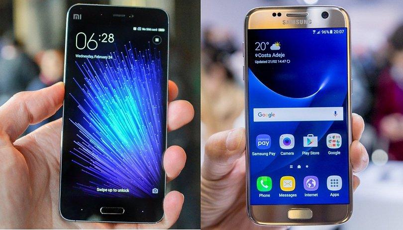 Samsung Galaxy S7 vs Xiaomi Mi5: Comparación de dos estrellas del MWC 2016