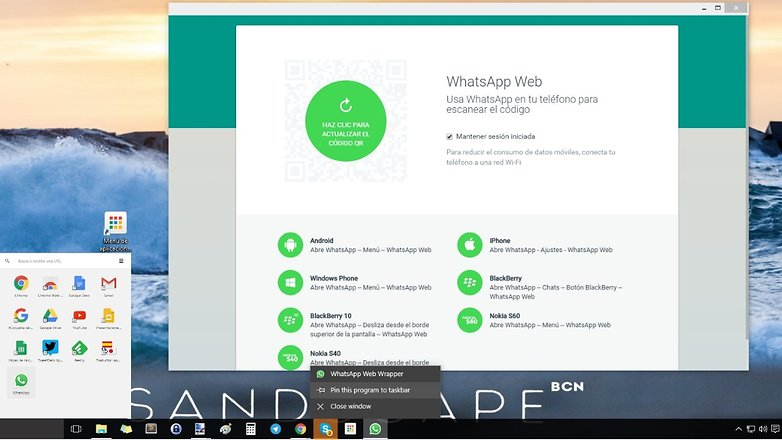 whatsapp web chrome es