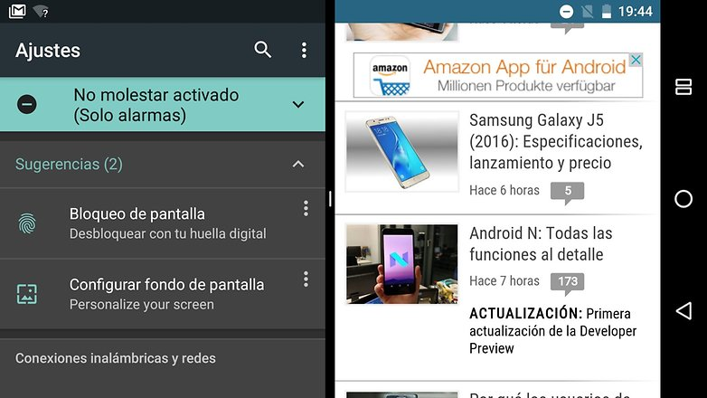 Android N multiventana